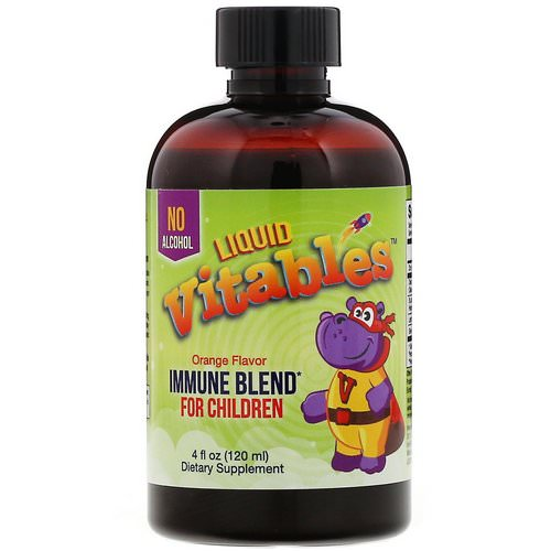 Vitables, Liquid Immune Blend for Children, No Alcohol, Orange Flavor, 4 fl oz (120 ml) Review