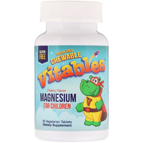 Vitables, Magnesium Chewables for Children, Sugar Free, Cherry, 90 Vegetarian Tablets Review