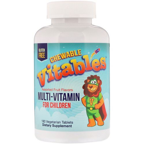 Vitables, Multi-Vitamin for Children, Assorted Fruit Flavors, 180 Vegetarian Tablets Review