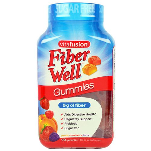 VitaFusion, Fiber Well, Peach, Strawberry, Berry, 90 Gummies Review