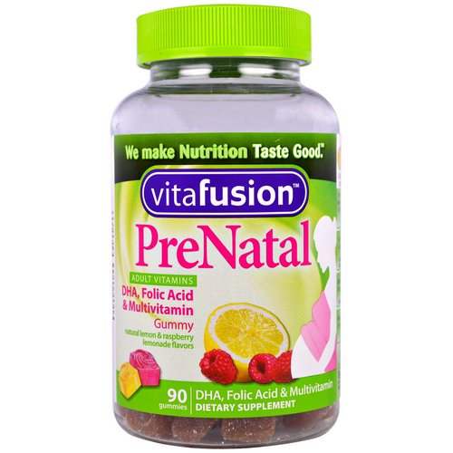 VitaFusion, PreNatal, DHA, Folic Acid & Multivitamin, 90 Gummies Review
