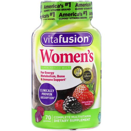 VitaFusion, Women's Complete Multivitamin, Natural Berry Flavors, 70 Gummies Review