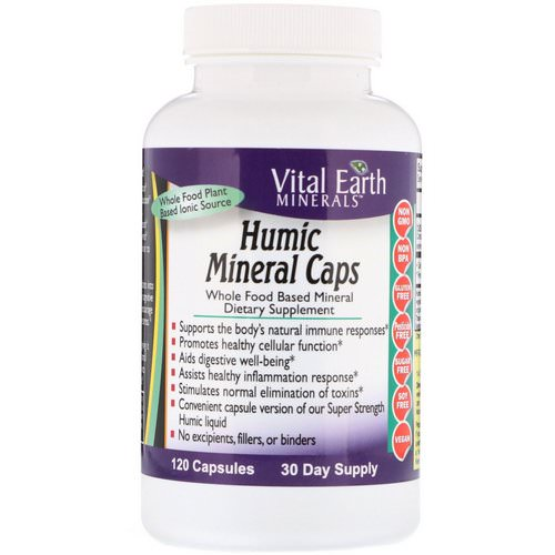 Vital Earth Minerals, Humic Mineral Caps, 120 Capsules Review