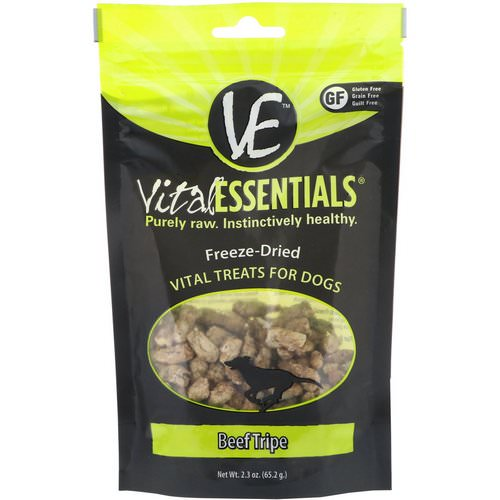 Vital Essentials, Freeze-Dried Treats For Dogs, Beef Tripe, 2.3 oz (65.2 g) Review