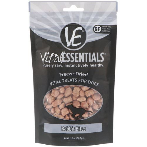 Vital Essentials, Freeze-Dried Vital Treats For Dogs, Rabbit Bites, 2.0 oz (56.7 g) Review