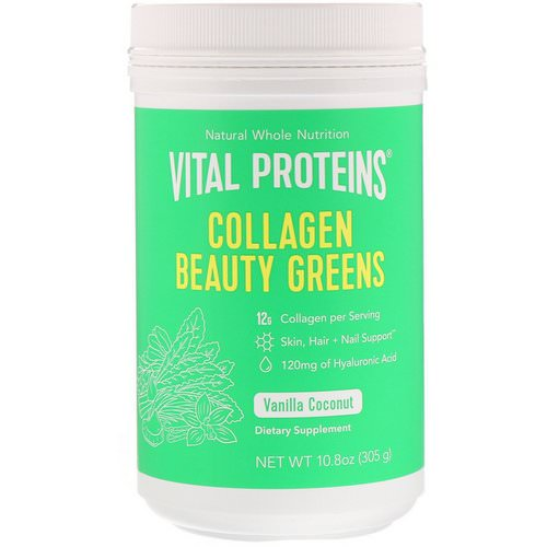 Vital Proteins, Collagen Beauty Greens, Vanilla Coconut, 10.8 oz (305 g) Review