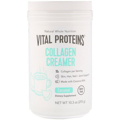 Vital Proteins, Collagen Creamer, Coconut, 10.3 oz (293 g) Review