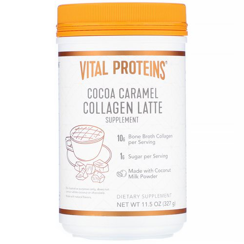 Vital Proteins, Collagen Latte, Cocoa Caramel, 11.5 oz (327 g) Review
