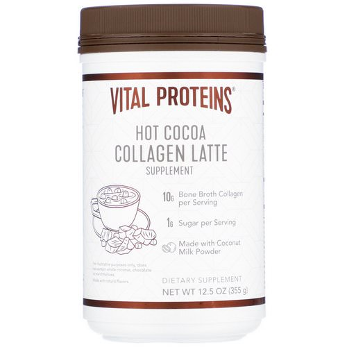 Vital Proteins, Collagen Latte, Hot Cocoa, 12.5 oz (355 g) Review