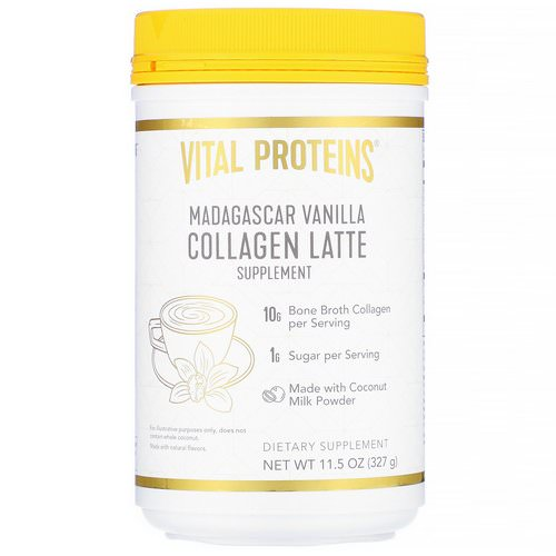 Vital Proteins, Collagen Latte, Madagascar Vanilla, 11.5 oz (327 g) Review