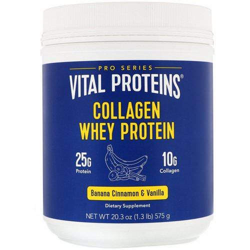 Vital Proteins, Collagen Whey Protein, Banana, Cinnamon & Vanilla, 1.27 lbs (575 g) Review
