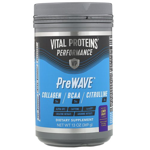 Vital Proteins, Performance, PreWave, Natural Lemon Grape, 13 oz (369 g) Review