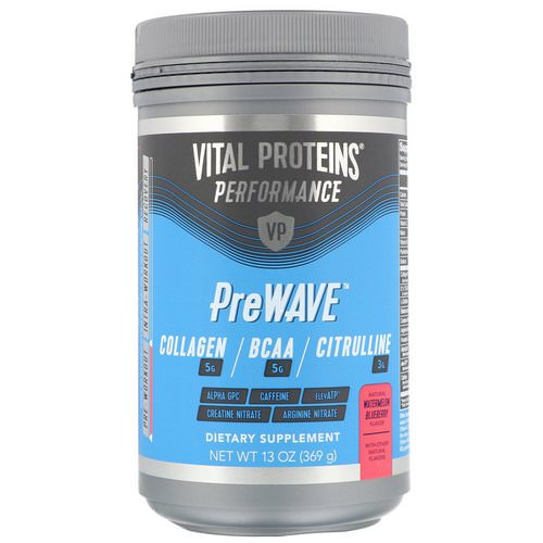 Vital Proteins, Performance, PreWave, Natural Watermelon Blueberry, 13 oz (369 g) Review