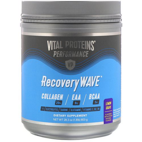 Vital Proteins, Performance, RecoveryWave, Lemon Grape, 28.3 oz (803 g) Review