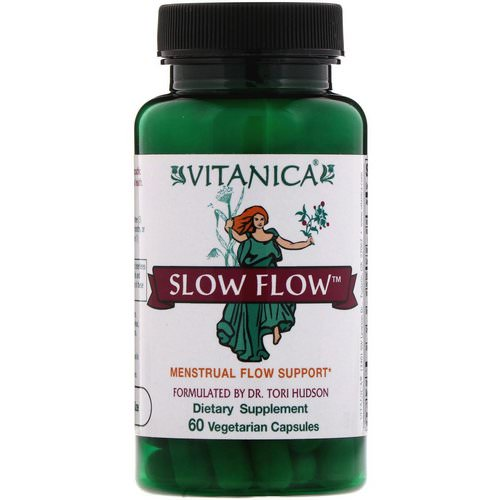 Vitanica, Slow Flow, Menstrual Flow Support, 60 Vegetarian Capsules Review