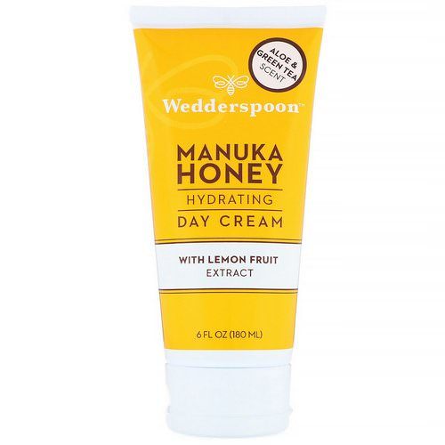 Wedderspoon, Manuka Honey, Hydrating Day Cream with Lemon Fruit Extract, Aloe & Green Tea Scent, 6 fl oz (180 ml) Review