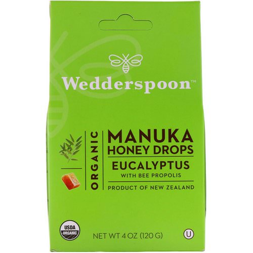 Wedderspoon, Organic Manuka Honey Drops, Eucalyptus with Bee Propolis, 4 oz (120 g) Review