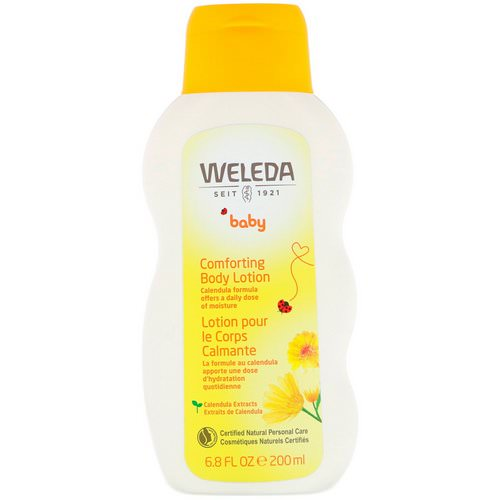 Weleda, Baby, Comforting Body Lotion, Calendula, 6.8 fl oz (200 ml) Review