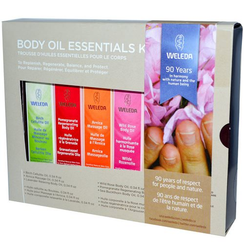 Weleda, Body Oils, Essential Kit, 6 Oils, (0.34 fl oz Each) Review