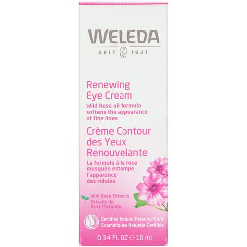 Weleda, Renewing Eye Cream, Wild Rose Extracts, All Skin Types, 0.34 fl oz (10 ml) Review
