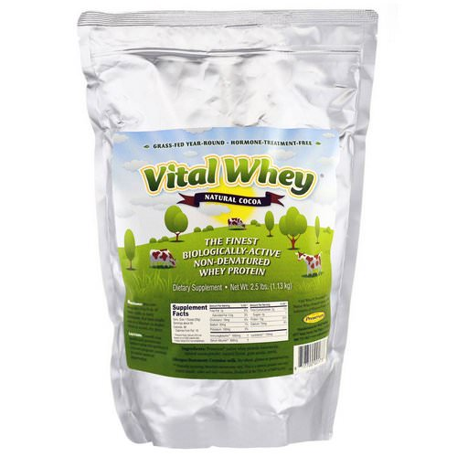 Well Wisdom, Vital Whey, Natural Cocoa, 2.5 lbs (1.13 kg) Review