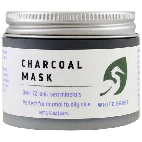 White Egret Personal Care, Charcoal Mask, 2 fl oz (59 ml) Review