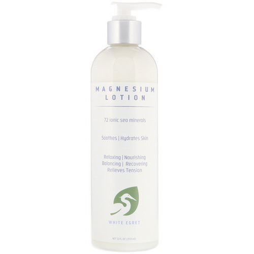 White Egret Personal Care, Magnesium Lotion, 12 fl oz (355 ml) Review