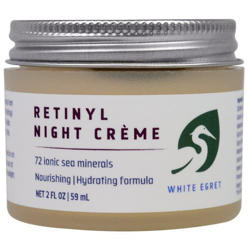 White Egret Personal Care, Retinyl Night Cream, 2 fl oz (59 ml) Review