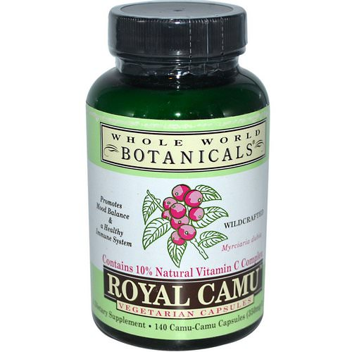 Whole World Botanicals, Royal Camu, 350 mg, 140 Vegetarian Capsules Review