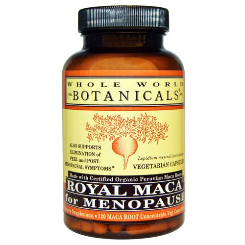Whole World Botanicals, Royal Maca for Menopause, 500 mg, 120 Vegetarian Capsules Review
