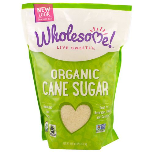Wholesome, Organic Cane Sugar, 4 lbs (1.81 kg) Review