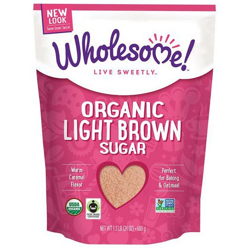 Wholesome, Organic Light Brown Sugar, 1.5 lbs (24 oz.) - 680 g Review