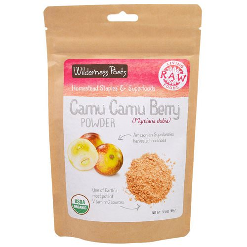 Wilderness Poets, Living Raw Foods, Camu Camu Berry Powder, 3.5 oz (99 g) Review