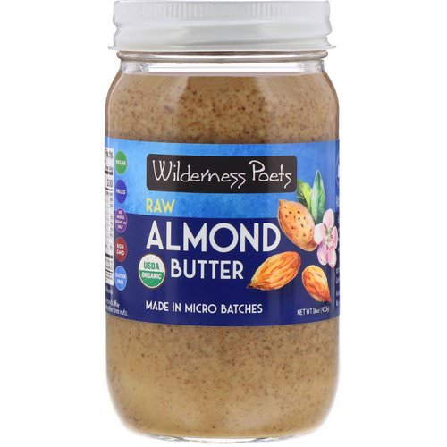 Wilderness Poets, Raw Almond Butter, 16 oz (454 g) Review