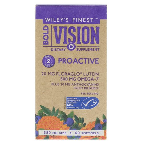 Wiley's Finest, Bold Vision, Proactive, 550 mg, 60 Softgels Review