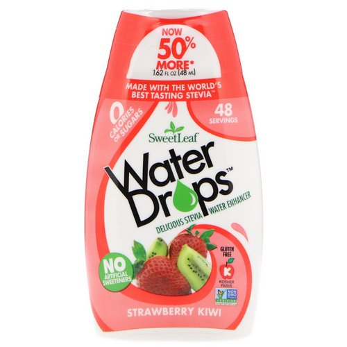 Wisdom Natural, SweetLeaf, Water Drops, Delicious Stevia Water Enhancer, Strawberry Kiwi, 1.62 fl oz (48 ml) Review