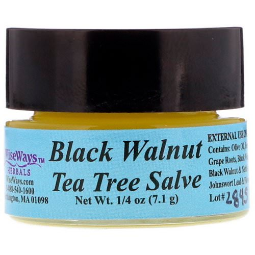 WiseWays Herbals, Black Walnut Tea Tree Salve, 1/4 oz (7.1 g) Review