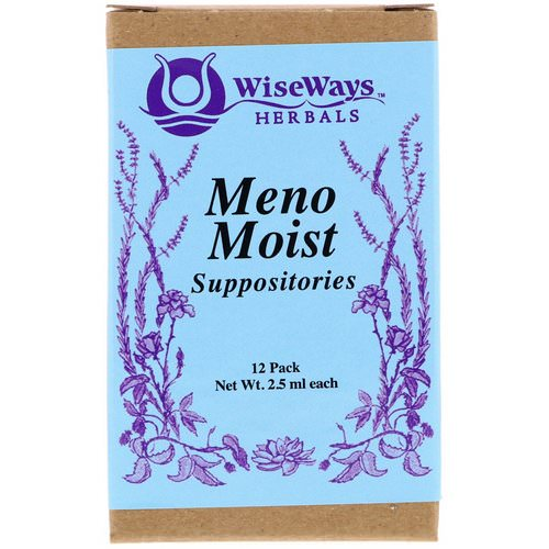 WiseWays Herbals, Meno Moist Suppositories, 12 Pack, 2.5 ml Each Review