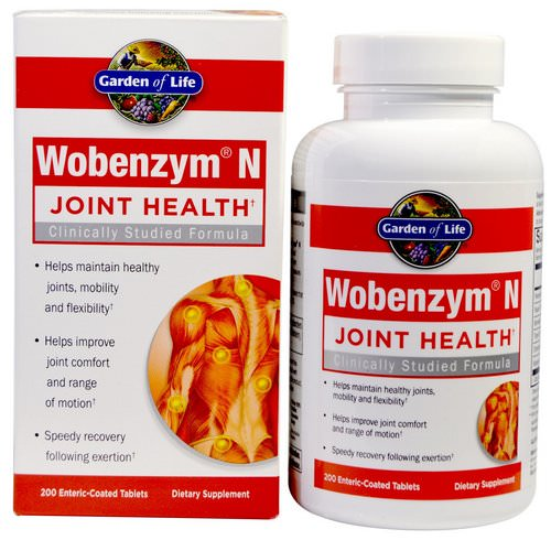 Wobenzym N, Joint Health, 200 Enteric-Coated Tablets Review