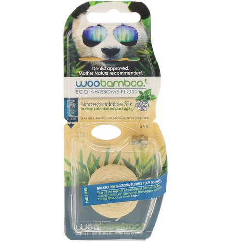 Woobamboo, Eco-Awesome Floss, Biodegradable Silk, Natural Mint, 37 m Review