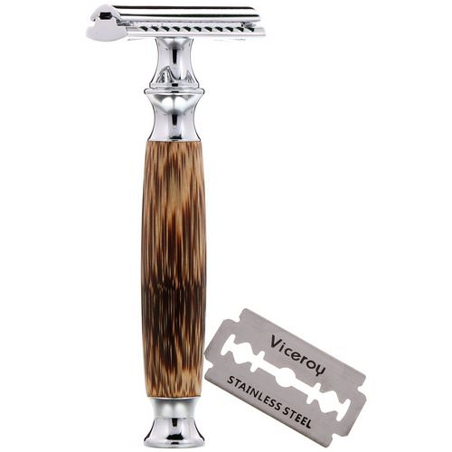 Wowe, Double Edge Safety Razor with Bamboo Handle, 1 Razor, 5 Blades Review
