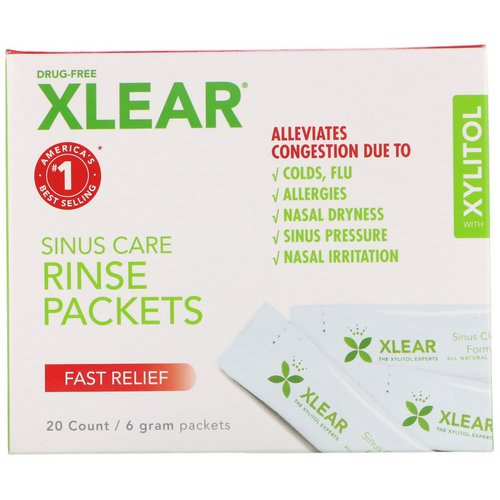 Xlear, Sinus Care Rinse Packets, Fast Relief, 20 Count, 6 g Each Review