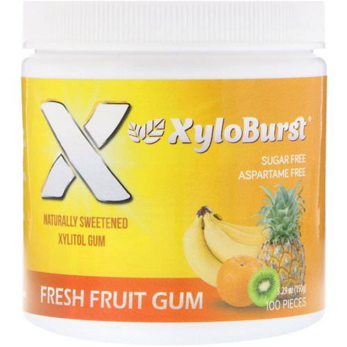 Xyloburst, Xylitol Chewing Gum, Fresh Fruit, 5.29 oz (150 g), 100 Pieces Review