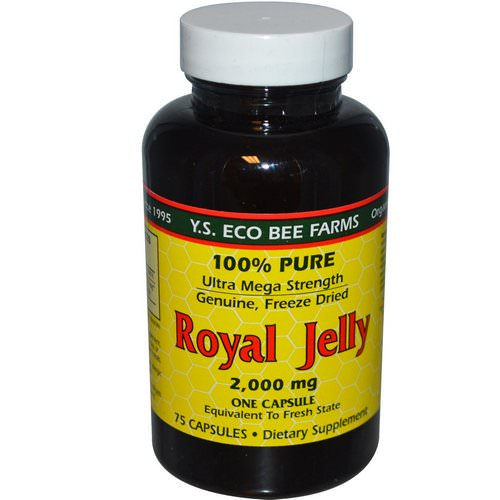 Y.S. Eco Bee Farms, Royal Jelly, 100% Pure, 2,000 mg, 75 Capsules Review