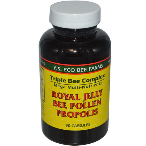 Y.S. Eco Bee Farms, Royal Jelly, Bee Pollen, Propolis, 90 Capsules Review