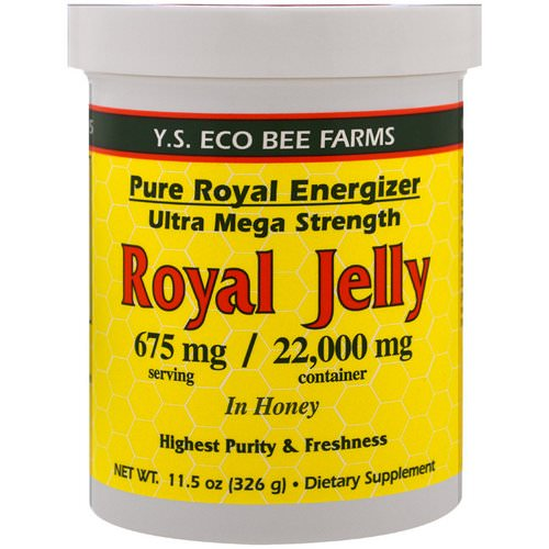 Y.S. Eco Bee Farms, Royal Jelly In Honey, 675 mg, 11.5 oz (326 g) Review