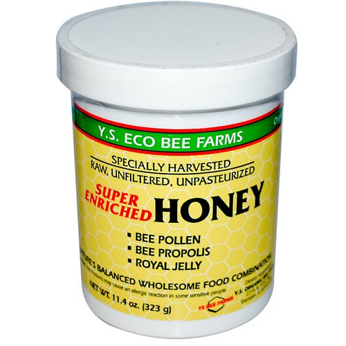 Y.S. Eco Bee Farms, Super Enriched Honey, 11.4 oz (323 g) Review