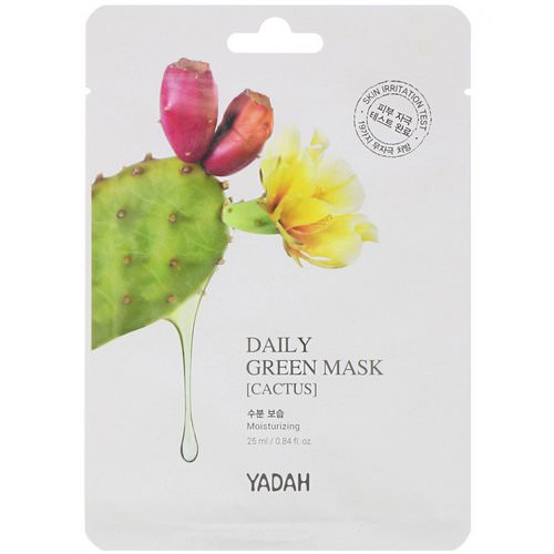 Yadah, Daily Green Mask, Cactus, 1 Sheet, 0.84 fl oz (25 ml) Review