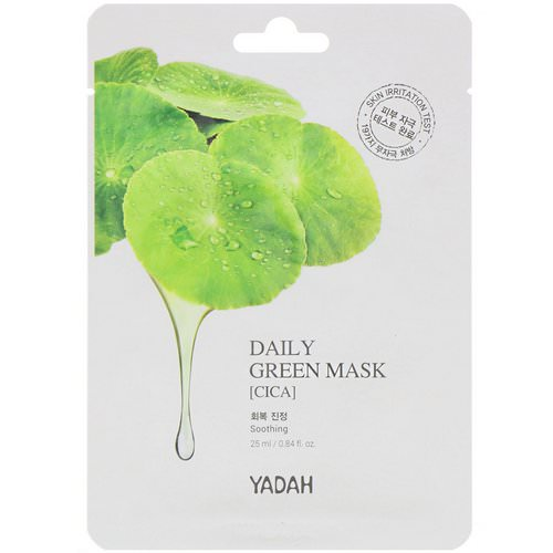 Yadah, Daily Green Mask, Cica, 1 Sheet, 0.84 fl oz (25 ml) Review