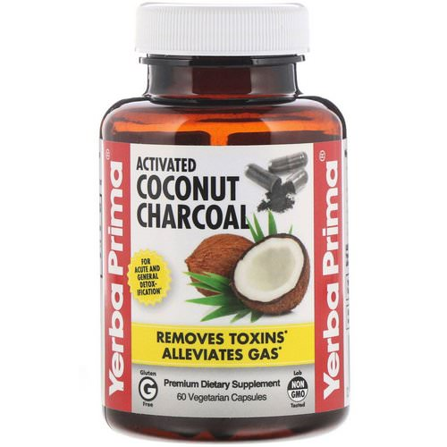 Yerba Prima, Activated Coconut Charcoal, 60 Vegetarian Capsules Review